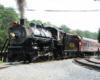 steam passenger train in Tennessee