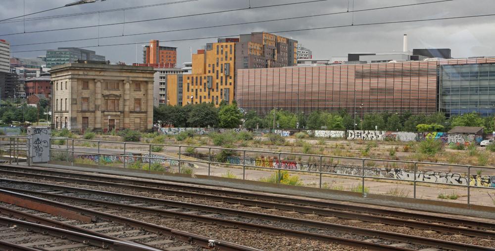 Vacant land near railroad tracks