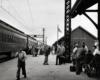 A busy train platform