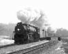 Steam locomotive with freight train