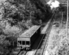 Freight cars on inclined plane