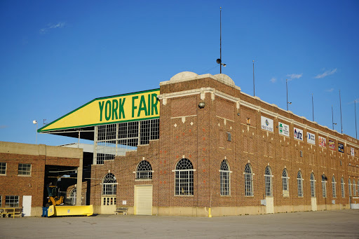 Outside of York, PA fairgrounds building