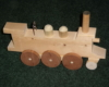 Wooden train for kids