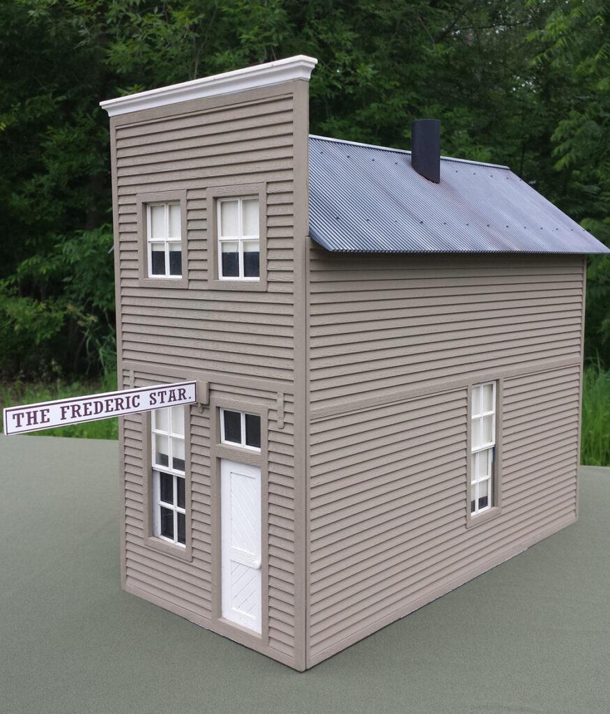 A model newspaper structure