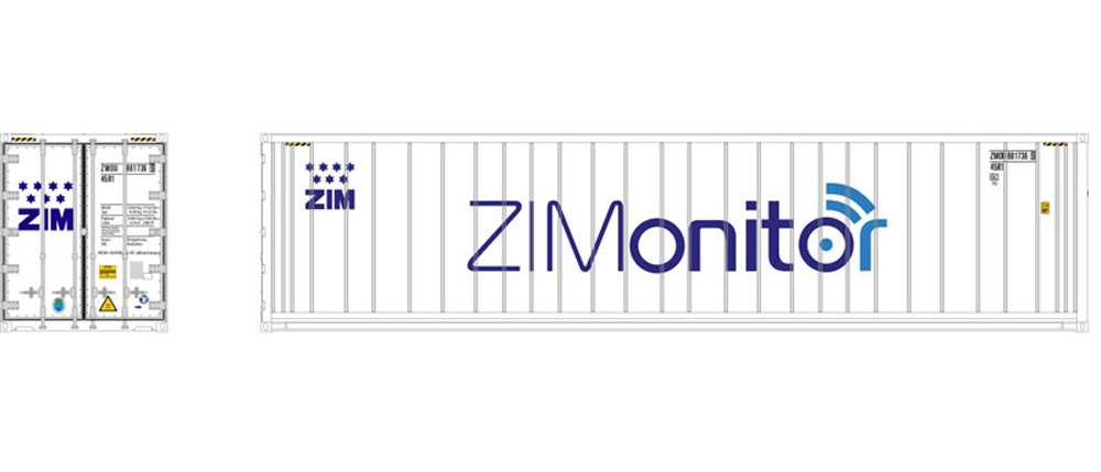 Atlas ZIMonitor 40-foot refrigerated intermodal container