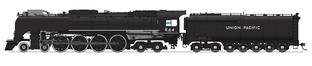 Broadway Limited Imports HO scale Union Pacific class FEF-3 4-8-4 steam locomotive no. 844.