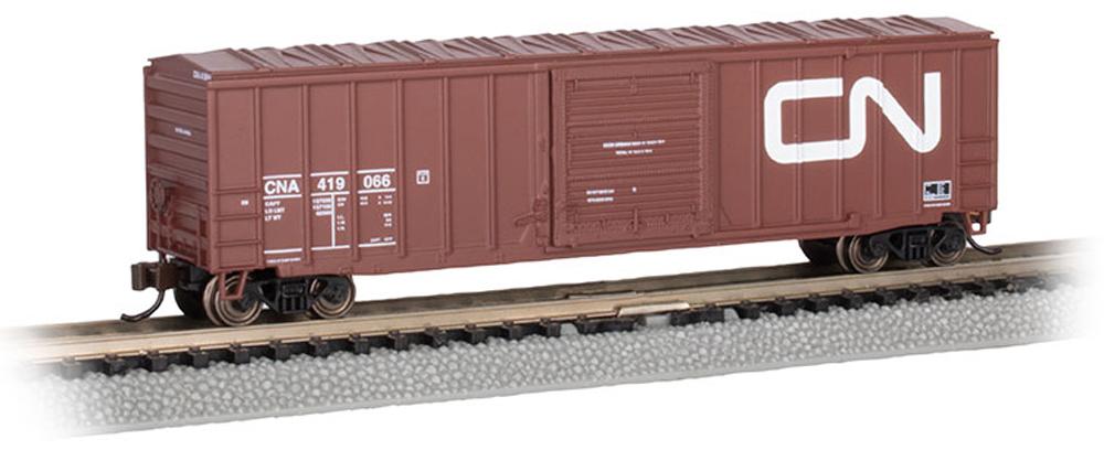 "Bachmann Trains Canadian National American Car & Foundry 50'-6"" boxcar."