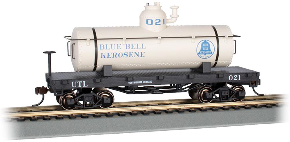 Bachmann HO scale Blue Bell Kerosene old-time tank car.