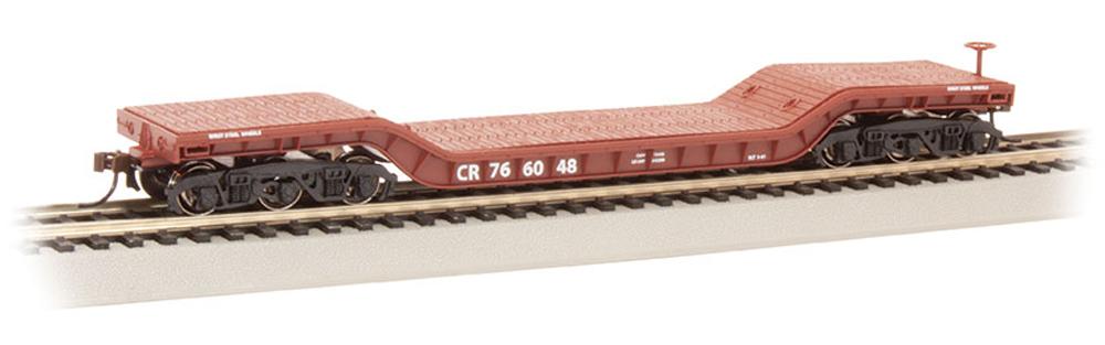 Bachmann Trains Conrail 52-foot depressed-center flatcar.