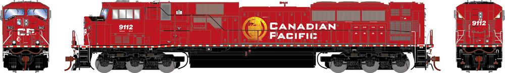 Canadian Pacific Genesis 2.0 Electro-Motive Division SD90MAC diesel locomotive.