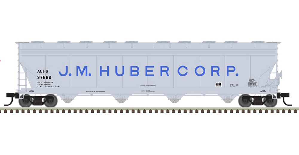 Atlas J.M. Huber Corp American Car & Foundry 5,701-cubic-foot capacity four-bay covered hopper