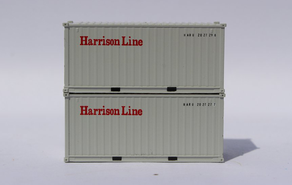 Jacksonville Terminal Company Harrison Line 20-foot standard-height intermodal container