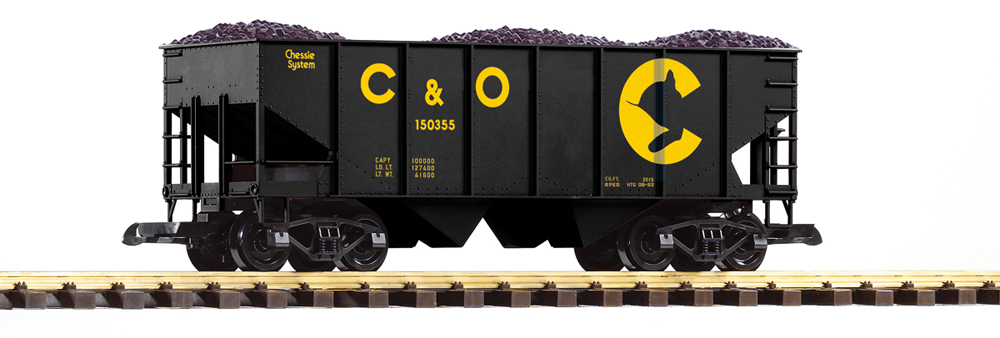 PIKO America Chessie System two-bay hopper with exterior posts no. 150355