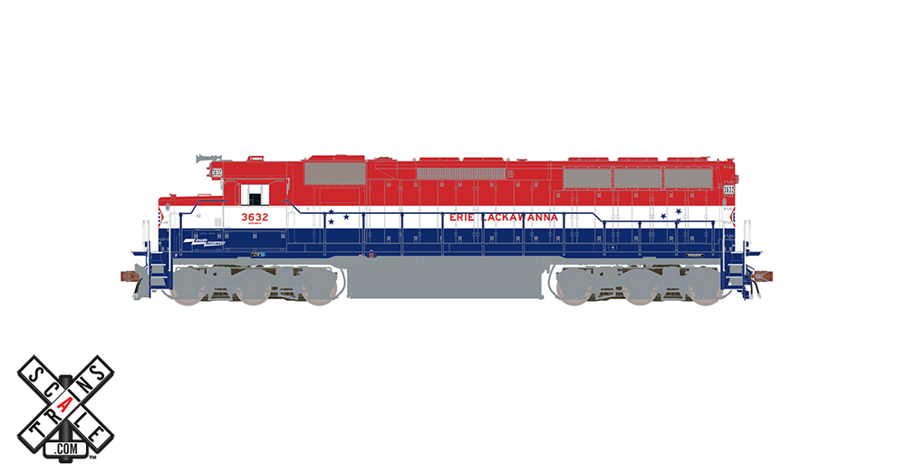 Erie Lackawanna Electro-Motive Division SD45 diesel locomotive