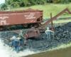 Figures next to model coal conveyor