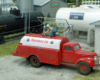 Figure filling model gas truck with gas