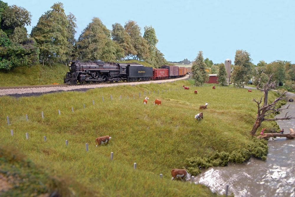 Midwestern scene on a model railroad