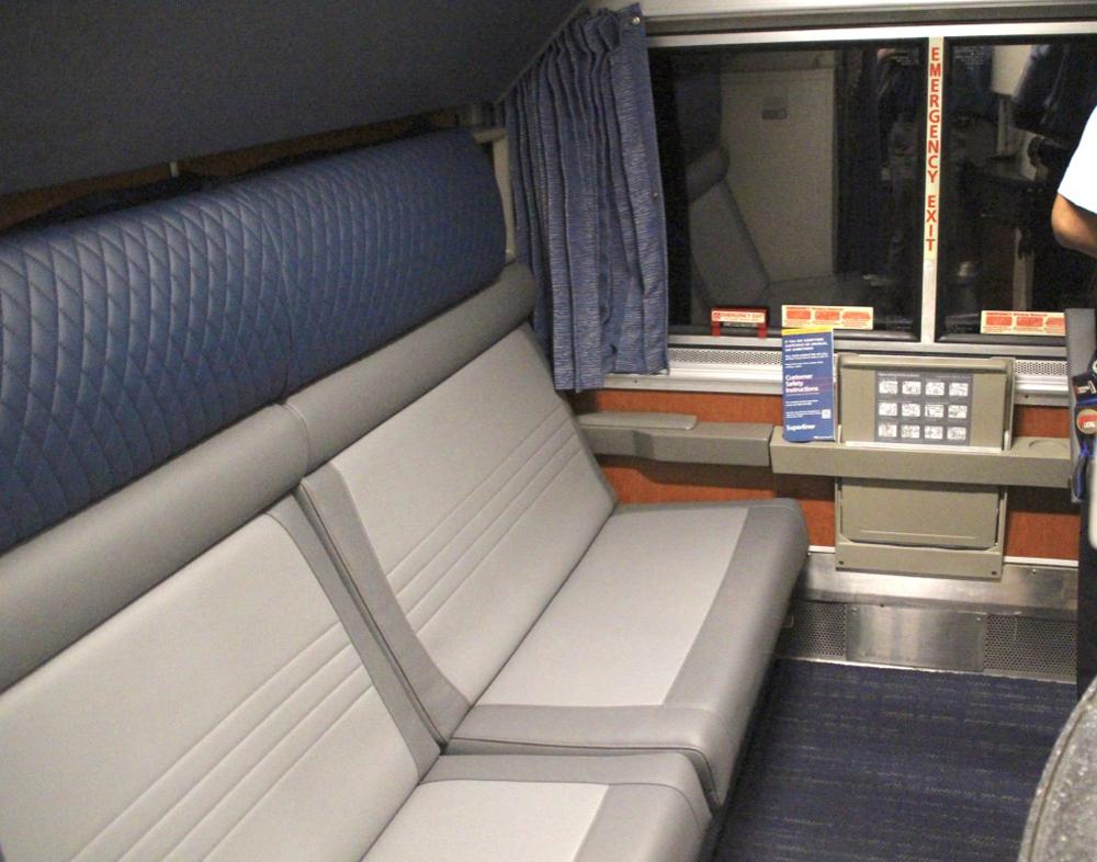 Seats in passenger car bedroom
