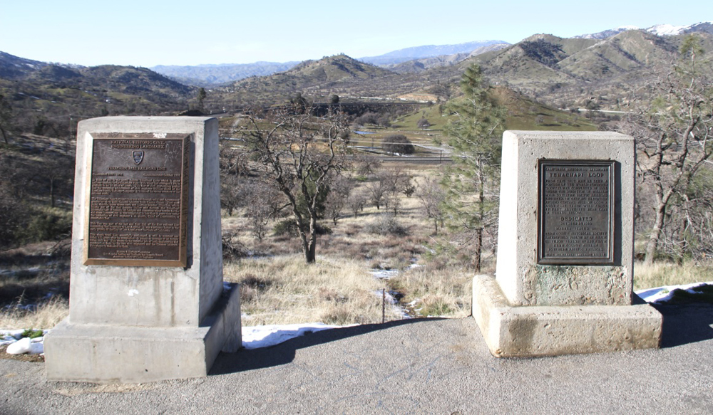 Historical markers at overlook