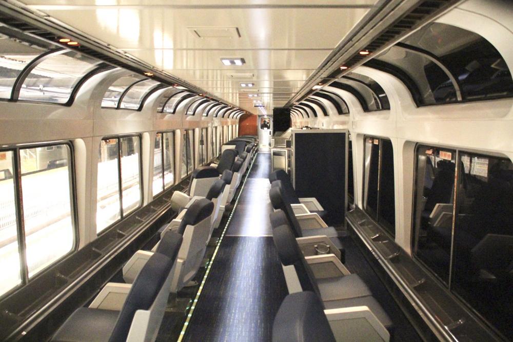 Inside of passenger car