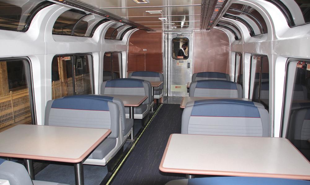 Booths in passenger car