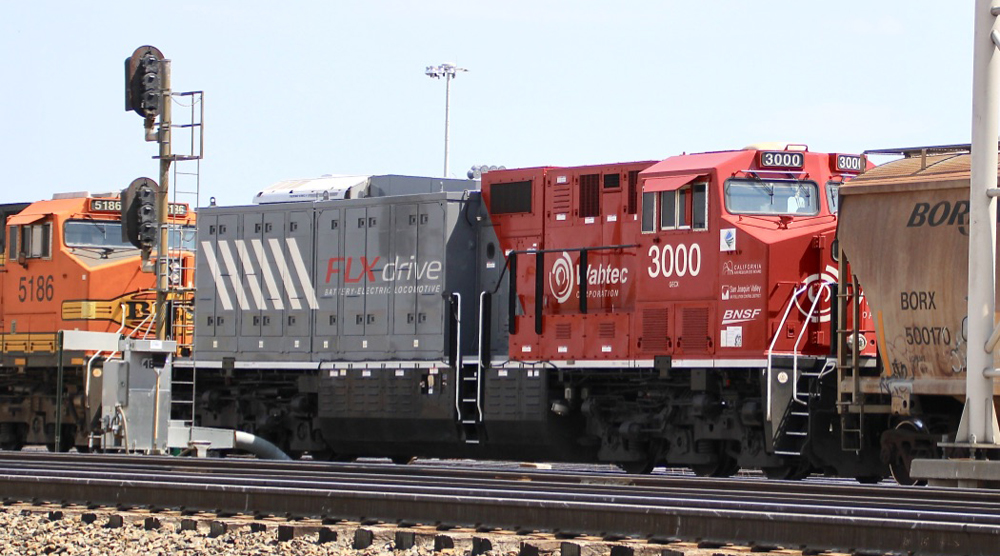 Red and gray locomotive
