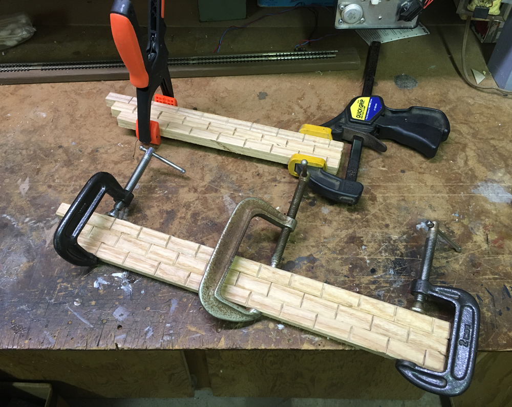 Clamped wood assemblies