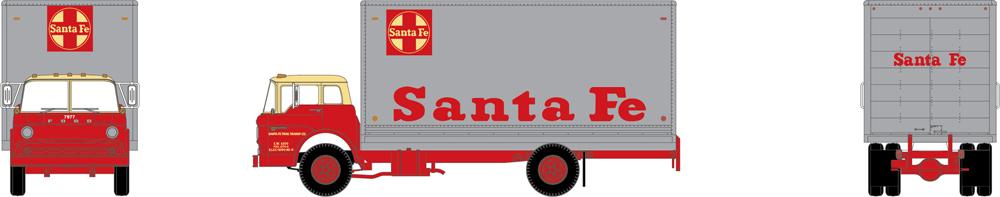 Athearn Trains Santa Fe Ford box van.