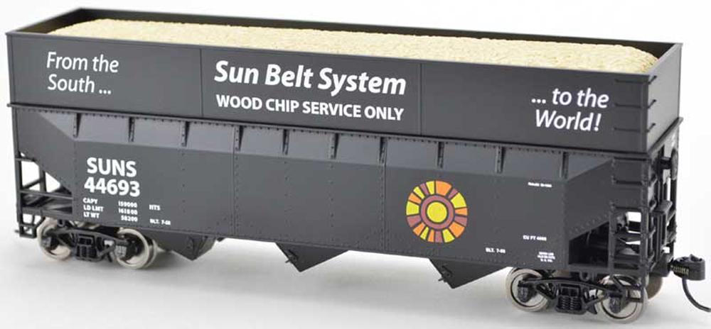 Sun Belt System 70-ton wood-chip hopper.