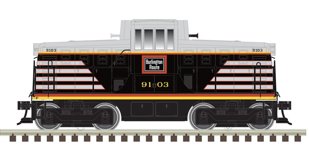 Burlington Route General Electric 44-ton diesel locomotive.