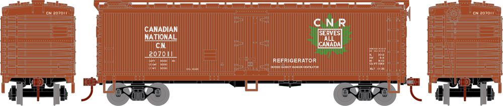 Canadian National 40-foot double-sheathed refrigerator car.