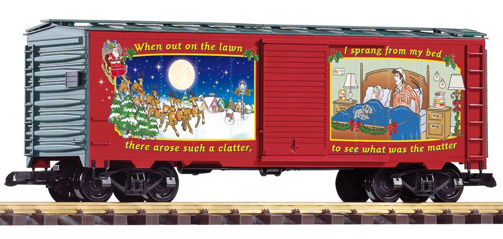 Christmas 2021 40-foot boxcar.