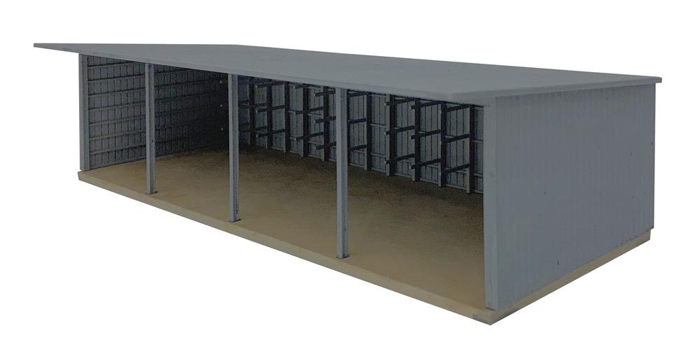 Machinery storage shed kit.