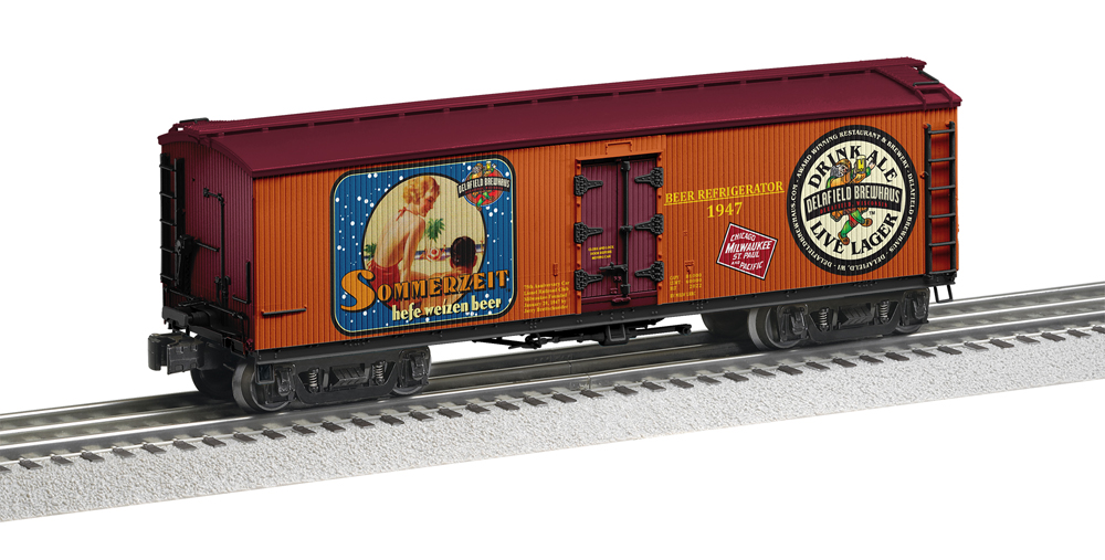 Milwaukee Lionel Railroad Club 75th anniversary double-sheathed refrigerator car.