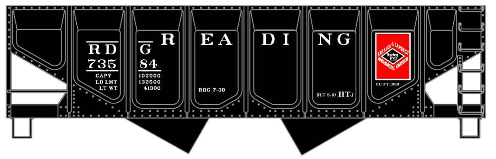 Reading Co. two-bay hopper.