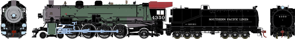 Southern Pacific MT-4 4-8-2 steam locomotive #4350.