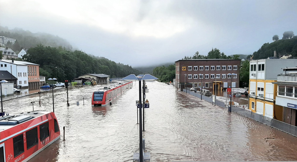 Floods close rail lines in Europe for months or longer - Trains