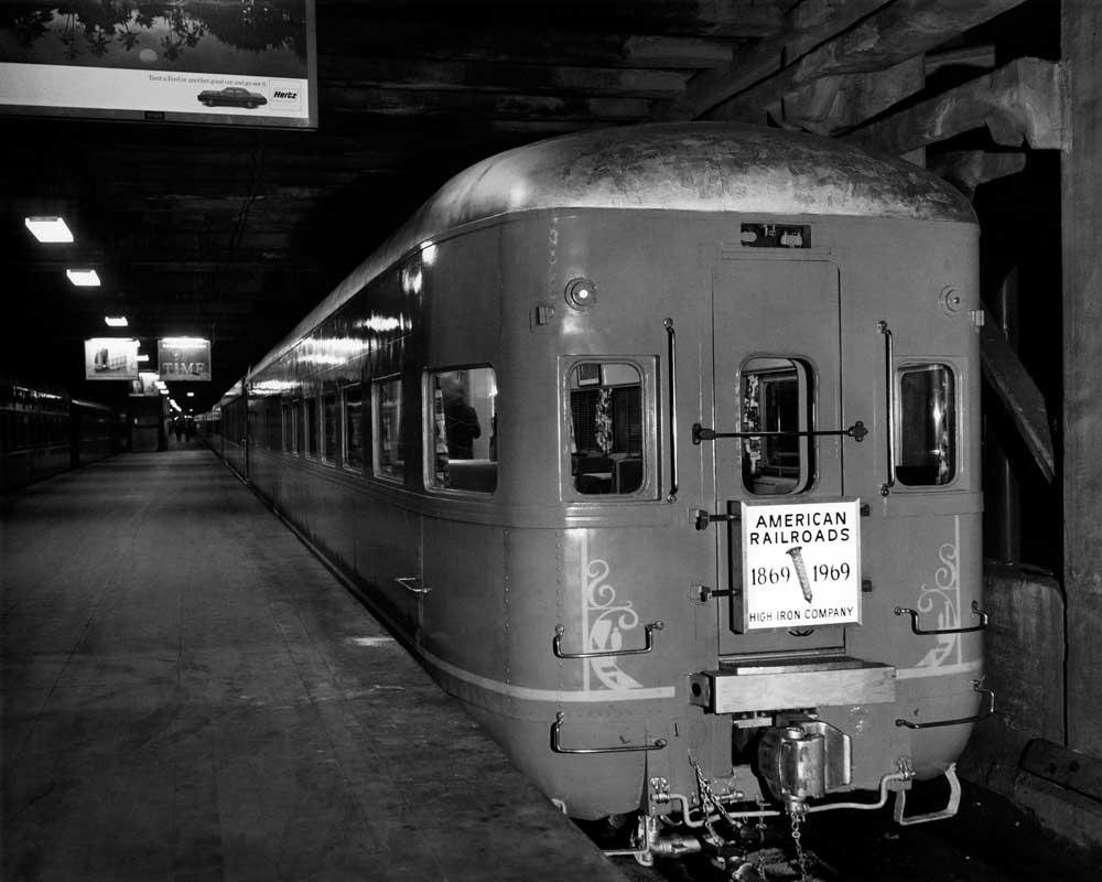 Rear of passenger in underground terminal