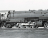 Black-and-white view of 2-8-8-2 steam locomotive