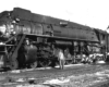 Black-and-white broadside view of 4-8-4 steam locomotive