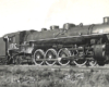 Black-and-white broadside view of 4-8-2 steam locomotive
