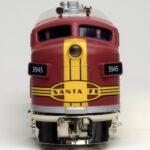Menards O gauge Santa Fe F3 nose view