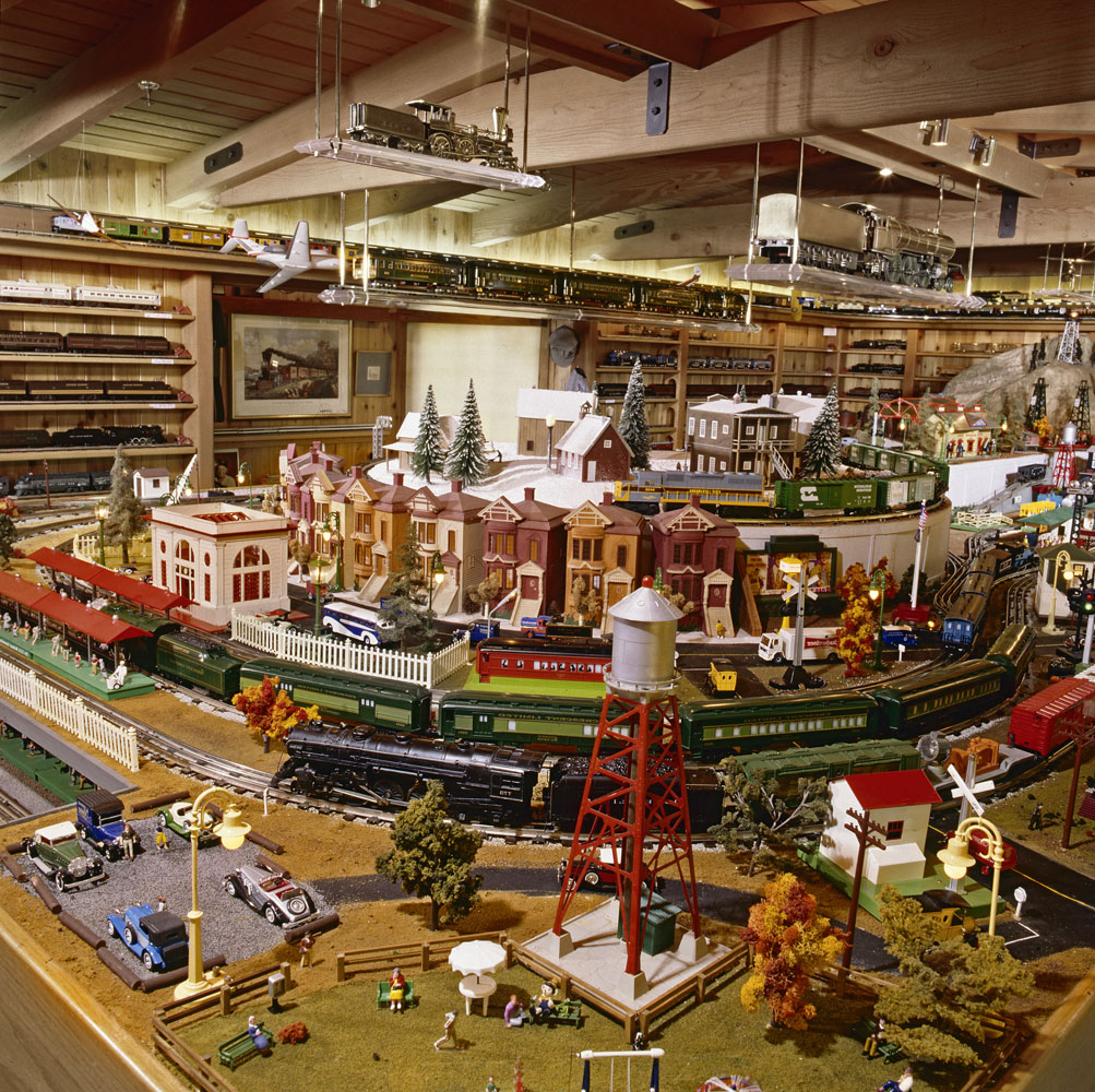 View of Frank Sinatra O gauge layout