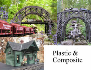 Garden railroad projects made from plastic
