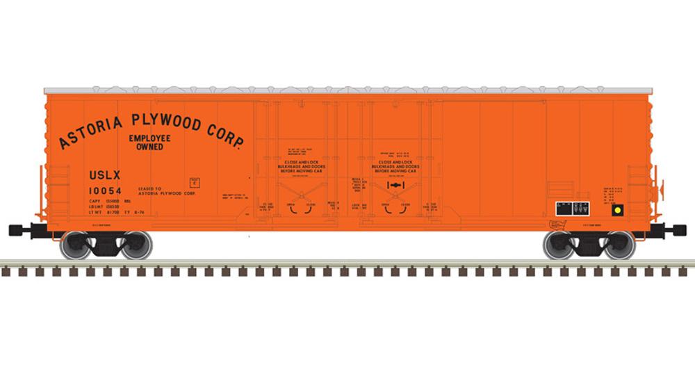 53-foot Astoria Plywood double-plug-door boxcar