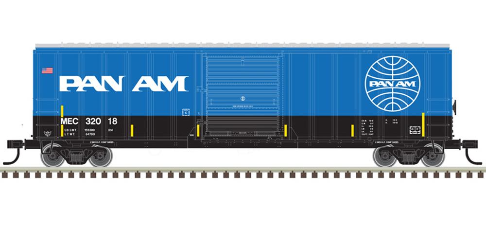 "Pan Am 50'-6"" boxcar."