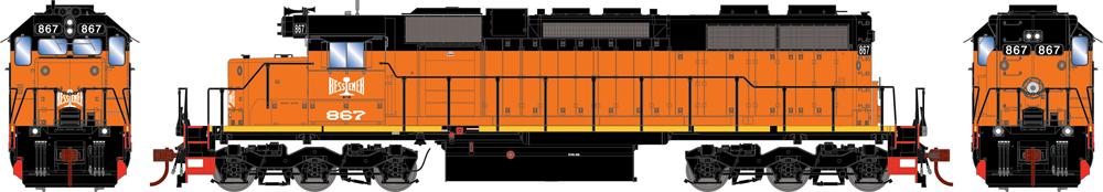 Bessemer & Lake Erie Electro-Motive Division SD38 diesel locomotive