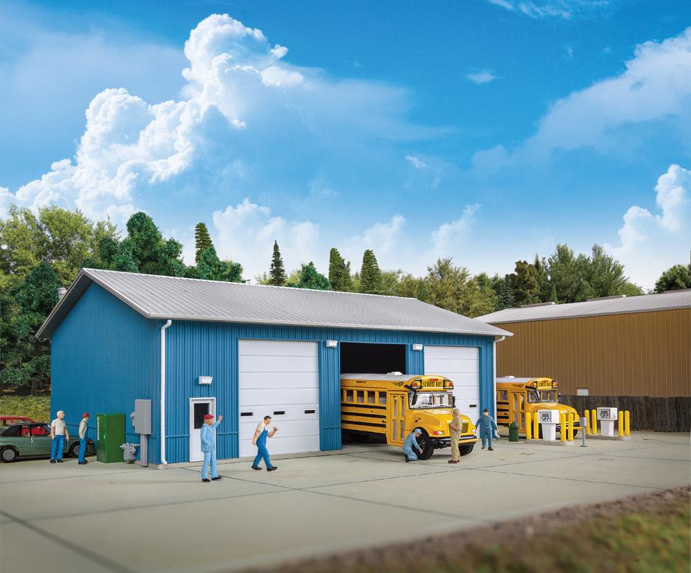 Bus maintenance garage kit.