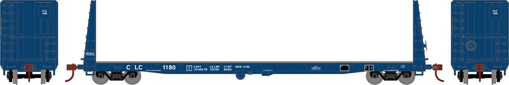 Columbia & Cowlitz 60-foot bulkhead flatcar.