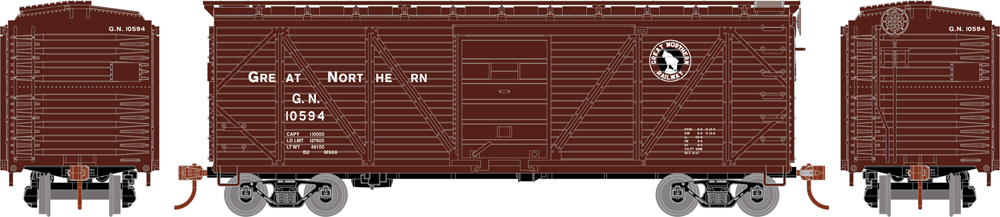 Great Northern 40-foot single-sheathed boxcar.